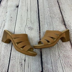 Croft & Barrow Tan Heeled Sandals